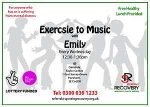 Exercise to music with Emily